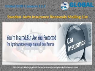 SwedenAuto Insurance Renewals Mailing List.pptx