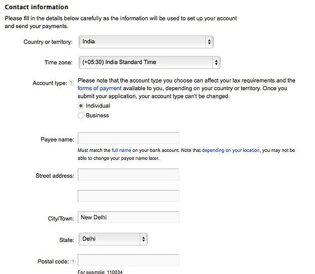 Adsense-contact-information