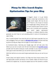 Pinoy for Hire Search Engine Optimization Tips for your Blog.pdf
