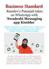 Ramdev's Patanjali takes on WhatsApp with 'Swadeshi Messaging appKimbho'.pdf
