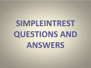 Simpleintrest Questions and answers.pdf