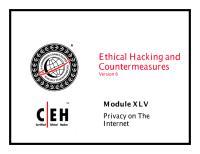 CEHv6 Module 45 Privacy on the Internet.pdf