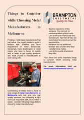 Things to Consider while Choosing Metal Manufacturers in Melbourne.pdf