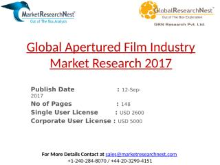 Global Apertured Film Industry Market Research 2017.pptx