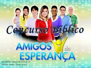 Concurso Bíblico 2011 - 03.ppt