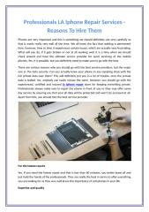Professionals LA Iphone Repair Services - Reasons To Hire Them.docx