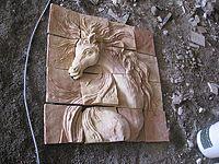 تابلو سفال نقش برجسته ( اسب مینیاتوری)