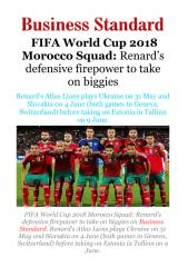 FIFA World Cup 2018 Morocco Squad - Renard's defensive firepower to take on biggies.pdf