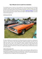 Top 3 Muscle Cars to Look for at Auctions.pdf
