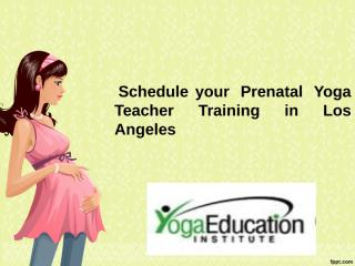 Schedule your Prenatal Yoga Teacher Training in Los Angeles.ppt