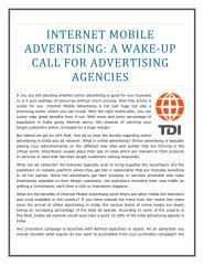 Internet Mobile Advertising- A wake-up Call for Advertising Agencies.pdf