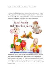 Baby Drinks - Juices (Baby Drinks) Market in Saudi Arabia - Outlook to 2020.doc