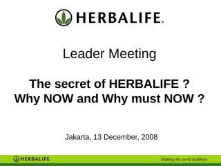 Leader Meeting Jakarta - 13 December, 2008.ppt