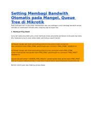 Setting Membagi Bandwith Otomatis pada Mangel.doc