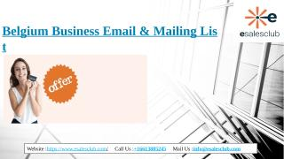Belgium Business Email & Mailing List.pptx