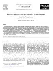 Rheology of cementitious paste with silica fume or limestone.pdf