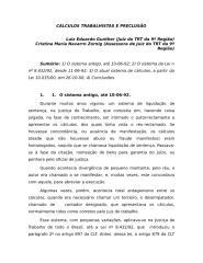 Cálculos trabalhistas e preclusão.doc