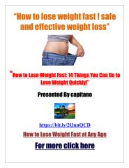 How to lose weight fast ! safe and effective weight loss.pdf