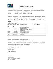 Surat Pengantar izin XL baru ( Target Jan ).doc