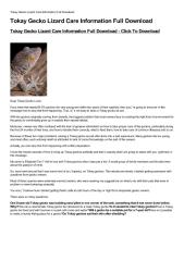 Tokay Gecko Lizard Care Information Full Download-html.pdf