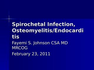 Spirochetal Infection.ppt