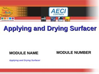 Applying and Drying Surfacer.ppt