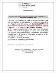 ARQUIVAMENTO Cb 21565 Tabosa  Aunsência do posto de serviço.doc
