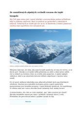 Ze zasněžených alpských vrcholů rovnou do teplé koupele.docx