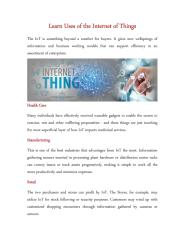 Learn Uses of the Internet of Things.pdf